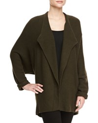 Lafayette 148 New York Dolman Long Sleeve Oversized Shrug Loden