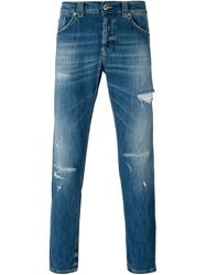 Dondup Distressed Slim Jeans Blue