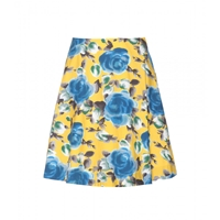 Marc By Marc Jacobs Jerrie Rose Printed Cotton Skirt Yellow Jacket Multi