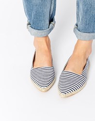 Park Lane Stripe Point Espadrilles Multi
