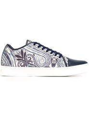 Etro Floral Paisley Print Sneakers Blue