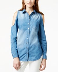 American Rag Cold Shoulder Denim Tunic Shirt Only At Macy's