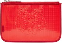 Kenzo Red Vinyl Tiger Pouch