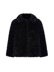 Mela Loves London Faux Fur Jacket Black