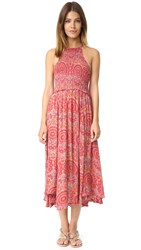 Free People Seasons In The Sun Slip Dress Red Combo