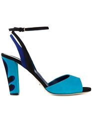 Sergio Rossi Chunky High Heel Sandals Blue