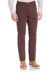Luciano Barbera Five Pocket Cotton Trousers Dark Red