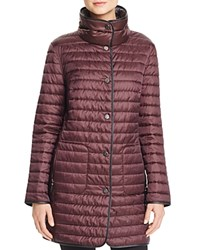 Basler Reversible Stand Collar Quilted Jacket Red