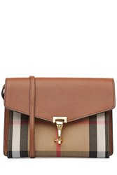 Burberry Shoes And Accessories Leather Shoulder Bag With Print Fabric Beige