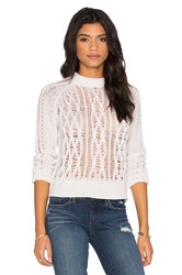 Inhabit Crew Neck Cable Sweater Ivory