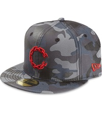 Crooks And Castles Camouflage Fitted Cap Black Camo
