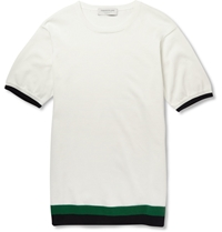 Tomorrowland Knitted Cotton T Shirt White