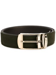Canali Rectangular Buckle Belt Green