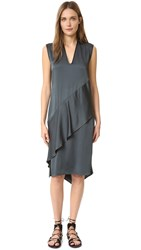 Zero Maria Cornejo Sleeveless Lulu Dress Shiny Forest