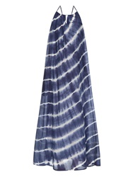 Velvet By Graham And Spencer Filipa Tie Dye Silk And Cotton Blend Maxi Dress