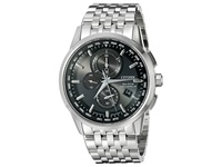 Citizen At8110 53E World Chronograph A T Silver Tone Stainless Steel Watches Bronze