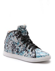 Splendid Sebastian Leather High Top Sneakers Teal