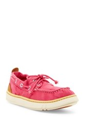 Timberland Hookset Handcrafted Canvas Boat Shoe Pink