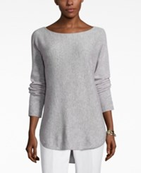 Charter Club Petite Cashmere Boat Neck High Low Sweater Only At Macy's Heather Crystal