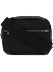 Tomas Maier Zip Up Shoulder Bag Black