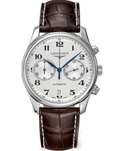 Longines L26294783 Croc Embossed Master Watch Steel