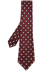 Kiton Medallion Print Tie Pink And Purple