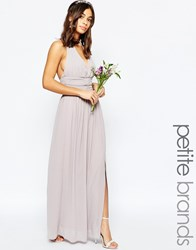 Tfnc Petite Wedding Halter Neck Chiffon Maxi Dress Purple