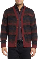 Robert Graham Men's Bauta Mixed Knit Cardigan