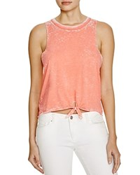 Chaser Tie Front Muscle Tank Bloomingdale's Exclusive Flamingo