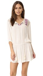 Glamorous Embroidered Mini Dress Cream