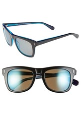 Men's Marc By Marc Jacobs 50Mm Sunglasses Black Blue Khaki Mirror Blue
