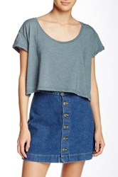 American Apparel Loose Crop Top Green
