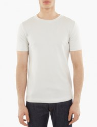 S.N.S. Herning Off White Knitted Cotton T Shirt