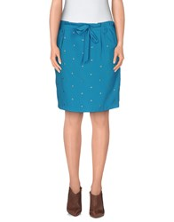 Beayukmui Skirts Knee Length Skirts Women Azure