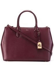Lauren Ralph Lauren Double Zip Tote Red
