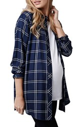 Women's Topshop Button Front Oversize Maternity Shirt