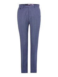 Ted Baker Pin Dot Slim Fit Suit Trousers Light Blue