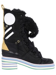 Maison Martin Margiela 50Mm Shearling And Suede Boots
