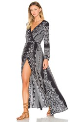 The Jetset Diaries Las Estrellas Maxi Dress Black And White
