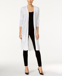 Joseph A Open Front Duster Cardigan Bright White
