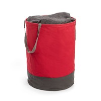 Umbra Crunch Large Round Bin Red Charcoal