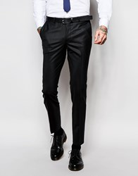 Noose And Monkey Suit Trousers With Stretch In Skinny Fit Black