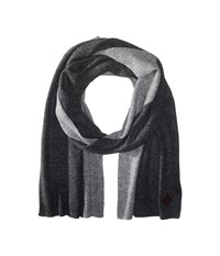 Cole Haan Cashmere Muffler Derby Light Grey Scarves Black