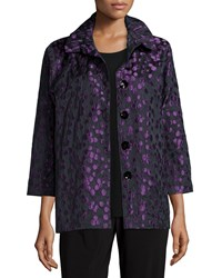 Caroline Rose Spot On 24 7 Jacquard Jacket Amethyst Black