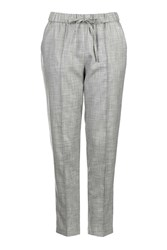 Topshop Petite Piped Formal Jogger Grey