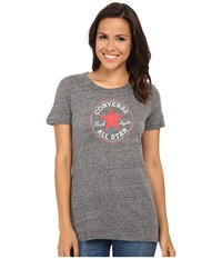 Converse Core 2 Chuck Patch Short Sleeve Crew Tee Color Heather Triblend Black Women's T Shirt
