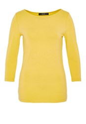 Hallhuber Boatneck Long Sleeve Yellow
