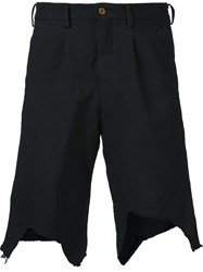Comme Des Gara Ons Homme Plus Modern Cropped Short Trousers Black