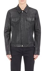 Helmut Lang Perforated Leather Jacket Black