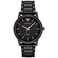 Emporio Armani Ar1508 Men's Date Ceramic Bracelet Strap Watch Black